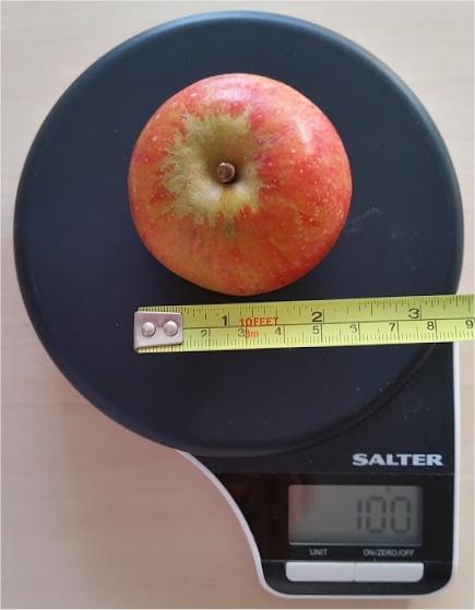 100g apple
